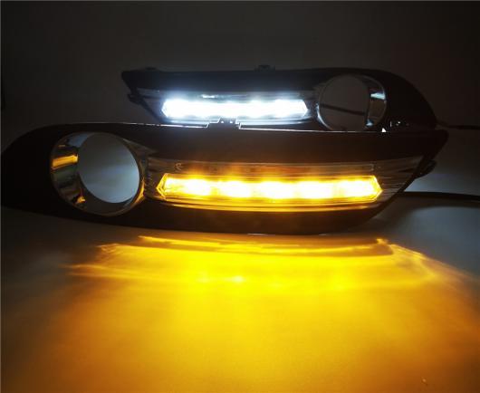 AL カー点滅 1セット 日産 シルフィセントラ 2012 2013 2014 2015 LED DRL デイタイム ライト 昼光ターン シグナル ランプ White and Yellow AL-BB-1714