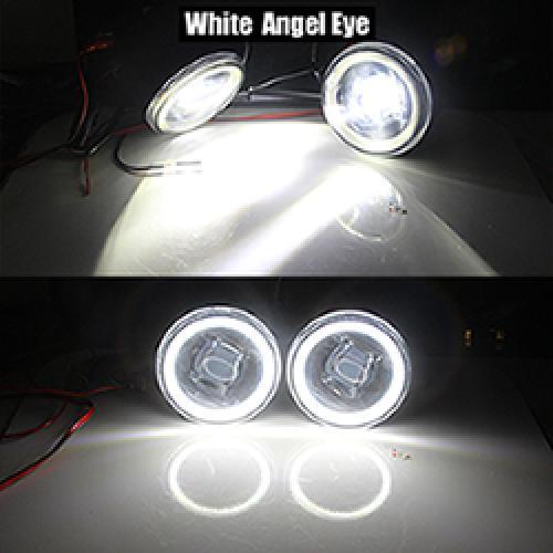 AL 4000LM H11 LED バルブ フォグ ランプ キット DRL 12 インフィニティ FX FX35 FX37 FX45 FX50 FX30D 2006-2015 White Angel Eye AL-BB-1720