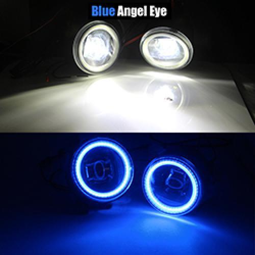 AL 日産 エクストレイル T31 H11 4000LM LED バルブ フォグ ライト DRL 12 240V 2007 2008 2009 2010 2011 2012 2013 Blue Angel Eye AL-BB-1745