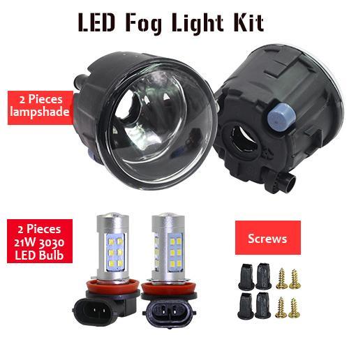 AL 日産 エクストレイル T31 オフロード 2007 ~ 2013 H11 フォグ ランプ キット シェード + バルブ DRL 12 12V LED Fog light kit AL-BB-1746