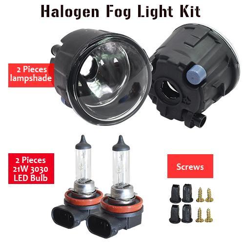 AL 日産 エクストレイル T31 オフロード 2007 ~ 2013 H11 フォグ ランプ キット シェード + バルブ DRL 12 12V Halogen Fog Light AL-BB-1746