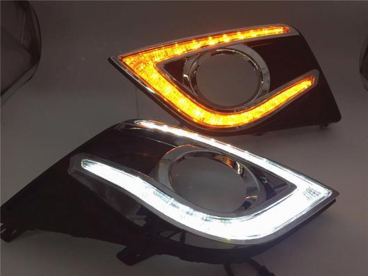 AL 日産 セントラ 2016 2017 LED 駆動 DRL デイタイムランニング ライト デイライト ヘッド ランプ White and Yellow AL-BB-1750