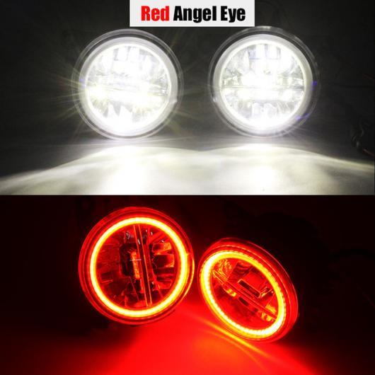 AL 日産 ムラーノ Z51 4000LM LED フォグ ライト エンジェル アイハローリング ランプ DRL 12V 2007 2008 2009 2010 2011 2012 2013 2014 Red Angel Eye AL-BB-1766