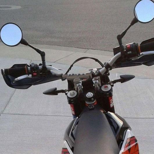 AL 1ペア 折りたたみ ラウンド オートバイ バックミラーバイク 自動車部品 ブラック AL-BB-1848