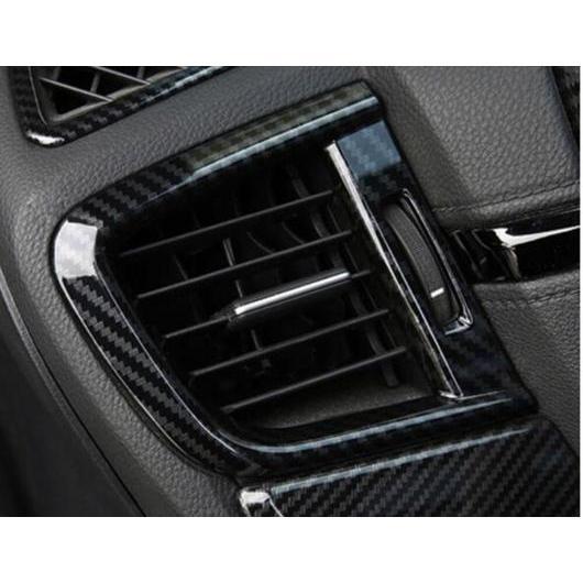 AL ホンダ CRV 2017 2018 2019 フロント サイド AC エアコンベント カバー ABS クローム カーボン ファイバー モールディング トリム 2個 カーボン カーボン carbon fiber AL-BB-2984