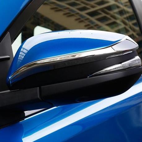 AL ドア ミラー ABS クローム ストライプ トリム トヨタ ヴォクシー ノア R80 2014-2018 キャップ アクセサリー オーバーレイ 2ピース AL-BB-2897