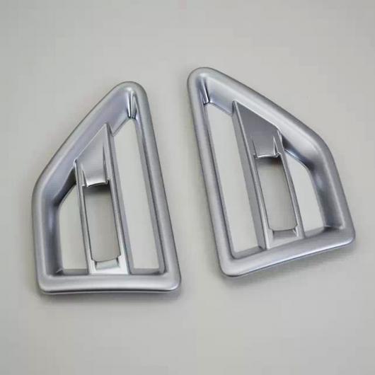 AL ABS クローム ランドローバーフリーランダー2 LR2 2011 2012 2013 2014 2015ドアエアベントノズル カバー トリム ACコンセント マット Matte AL-BB-7191