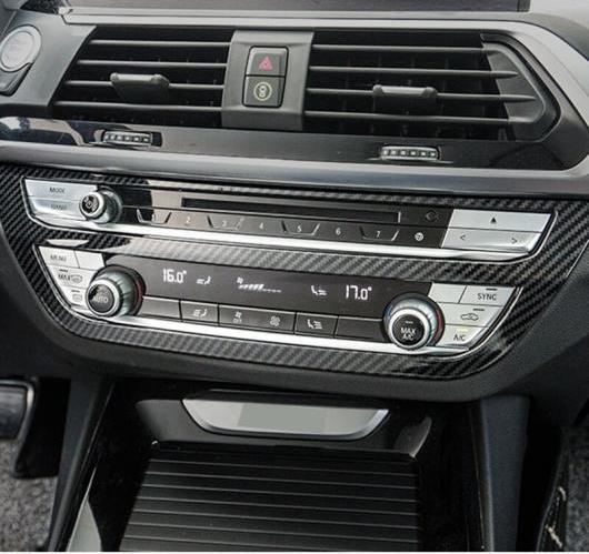 AL BMW X3 G01 G08 2018 ABS センターコンソール エアコン CD フレーム カバー トリム 内装 選べる2バリエーション ABS Matte・ABS Carbon AL-BB-6553
