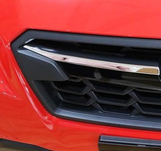 AL 2ピース スバル XV 5ドアハッチバック2017 2018 ABS クローム エクステリア アッパー フロント グリルグリル カバー AL-BB-6679