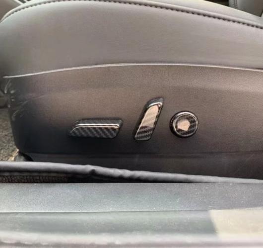 AL テスラ モデル 3 2018 2019 カーボン ファイバー シート調整ボタンスイッチデコレーションステッカー トリム インテリア 6個 選べる2バリエーション ABS Matte・Carbon Fiber AL-BB-6696