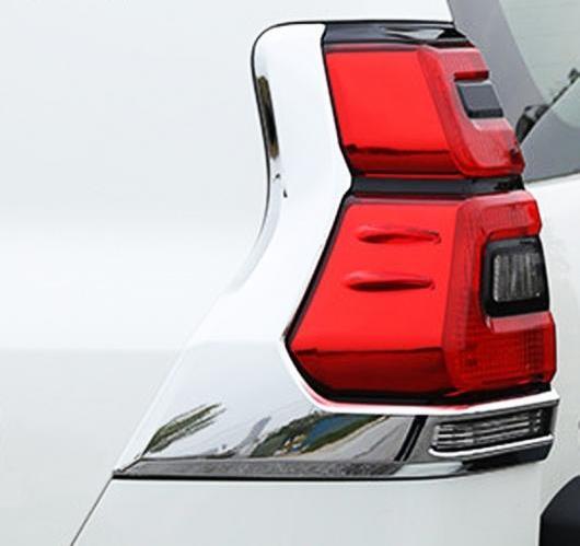 AL 2ピース ABS クローム リア テール ライト カバー トヨタ ランド クルーザー プラドLC150 FJ150 2018カー AL-BB-6768