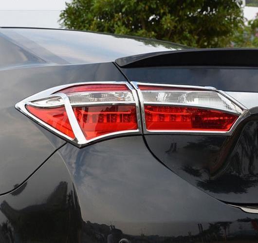 AL 4ピース トヨタ カローラ E170 2014 2015 ABS クローム リア テール ライト ランプ カバー トリム AL-BB-6798