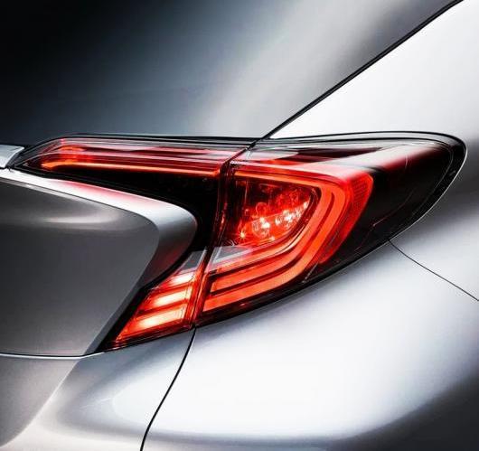 AL ABS クローム リア テール ライト ランプ モールディング カバー 6ピース トヨタ C-HR 2016 2017 AL-BB-6800