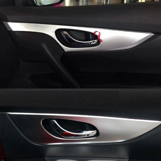AL 日産 エクストレイル 2014 2015 2016 ABS クローム インテリア ドアハンドルボウル カバー トリム ベゼル モールディング ステッカー AL-BB-6868