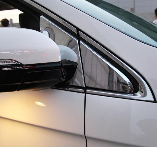 AL フォード エッジ2015 ABS クローム サイドドア ミラー ウィンドウ フロント 三角形 カバー トリム バック 4ピース/セット AL-BB-6979