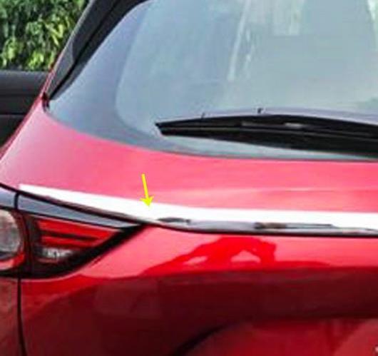 AL マツダ CX-5 2017 2018 ABS クローム リア トランクリッド カバー トリム フレーム 2ピース AL-BB-7108
