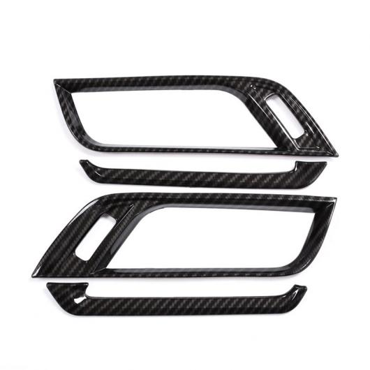 AL カーボンファイバー BMW X1 F48 2016-2018 ABS プラスチッククロームサイド空調ベント カバー トリム BMW X2 F47 2018 4ピース Carbon fiber style AL-CC-7171