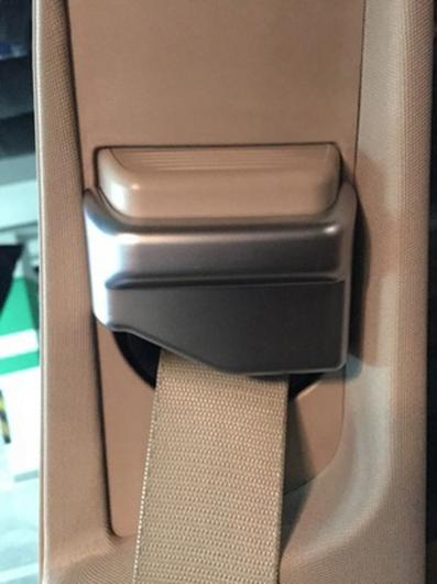 AL マットクロームシート シートベルト カバー トリム メルセデスベンツ Eクラス W213 10-17 S W222 14-17 CLSクラス12-17 シルバー AL-CC-7225