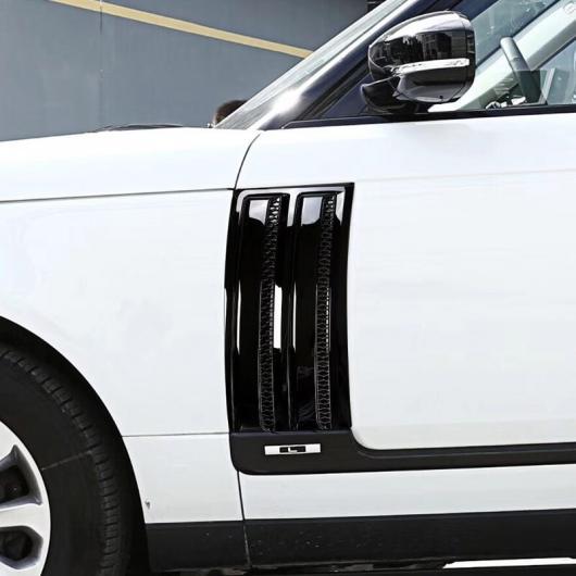 AL ランドローバー レンジローバーヴォーグ SVO 2014-2018 ABS グロスブラッククローム サイドドアエアーベントキットトリム 2ピース 選べる2バリエーション Black silver・Gloss black AL-CC-7267