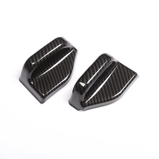 AL 2ピース カーボンファイバー ABS クローム シートベルト カバー トリム メルセデスベンツ B CLA GLA クラス W117 C117 W246 Carbon Fiber AL-CC-7437