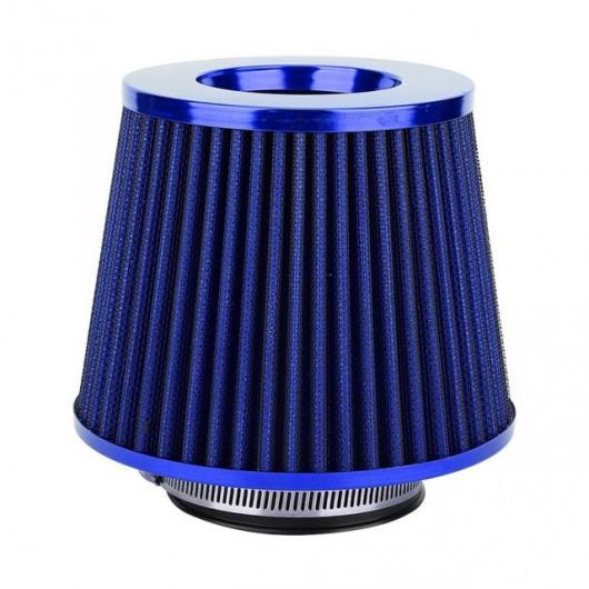 AL ユニバーサル 63mm 鉄 ハイ エアマルチ直径キノコヘッドエアフィルターキット エアインテーク フィルター blue AL-DD-0047