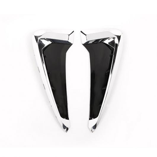 AL 2個 ABS クロームシルバー サメ エラ サイド フェンダーベントステッカー BMW X5 F15 X5M F85 2014-2018 タイプ001 AL-DD-4243