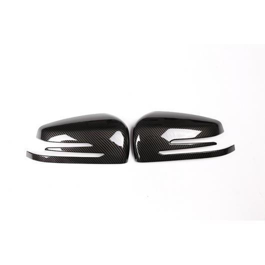 AL カーボンファイバー レッド ABS サイドドアバックミラーキャップ メルセデスベンツ A CLA GLA GLK クラス W176 W117 X156 X204 カーボン AL-DD-4300