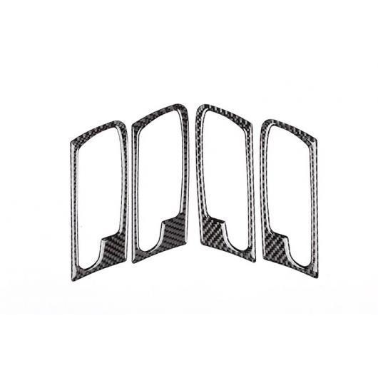 AL 4個 カーボンファイバー スタイル カーインテリアドアハンドルフレームステッカー BMW X5 E70 X6 E71 2008-2013 Carbon fiber AL-DD-4339