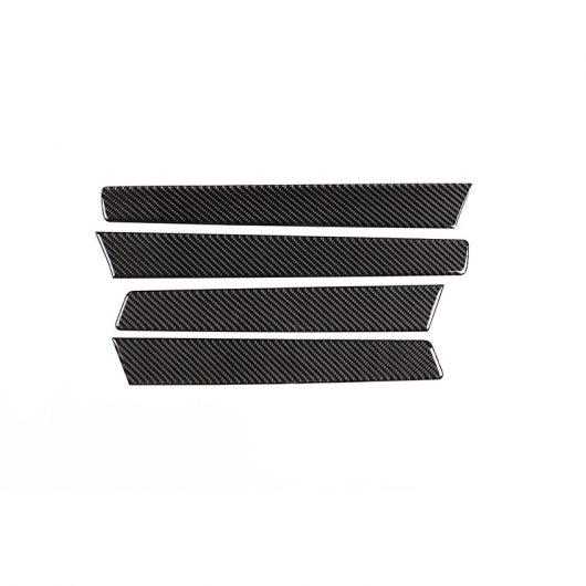 AL 4個 ソフト カーボンファイバースタイル インナードア 装飾 パネル カバー VW フォルクスワーゲン トゥアレグ 2013-2018 Carbon fiber AL-DD-4340