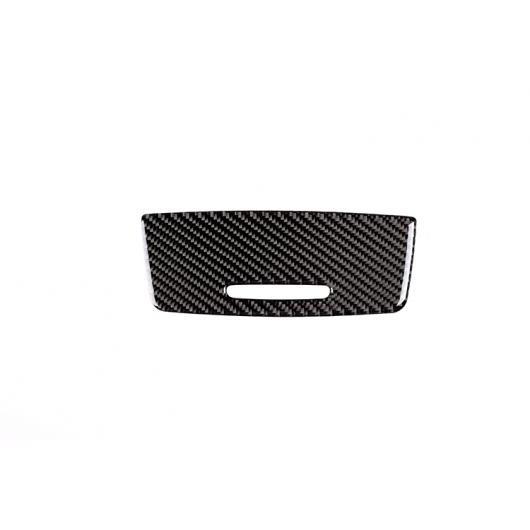 AL カーボンファイバースタイル中央 コントロール シガーライターパネル BMW 3 シリーズ E90 E92 トリム 2005-2012 ブラック AL-DD-4370