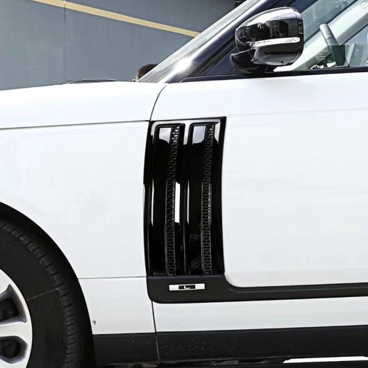 AL ランドローバーレンジローバーヴォーグ SVO 2014-2018 ABS グロスブラッククローム サイドドアエアーベントキット 2ピース 選べる2バリエーション Black silver・Gloss black AL-DD-5637