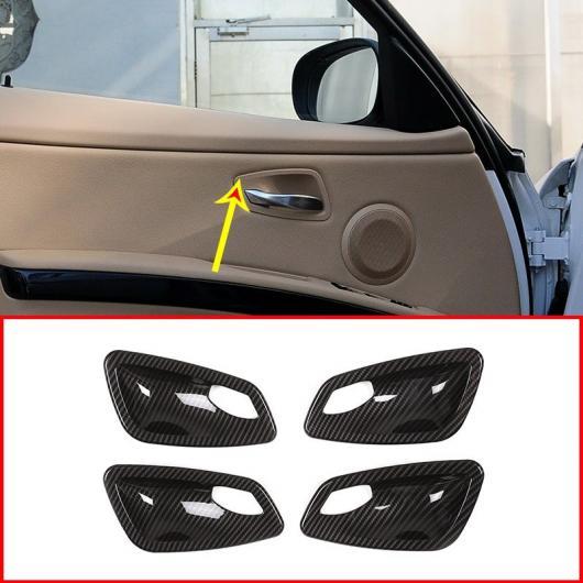 AL 4個 カーボン調 ABS 内部ドアボウル カバー BMW E90 3 シリーズ 2005-2012 選べる2バリエーション Carbon Fiber・Silver AL-DD-5951