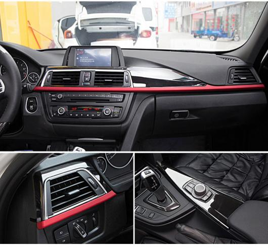 AL BMW 3 4シリーズF30 F34 GT 316i 320Li 2013-2017 ABS センターコンソール パネル カバー セット3ピース 選べる3バリエーション Red edge style~Silver edge style AL-DD-6024