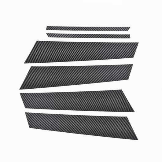 AL 6個 メルセデスベンツ W177 A180 A200 A220 A250 2019 + ウィンドウ B C ミドル ピラー ストリップトリムステッカー Carbon Fiber AL-DD-6705