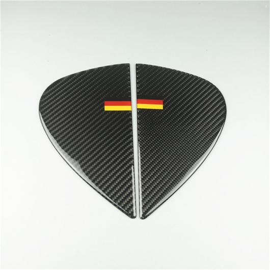 AL カーボンファイバー フレーム ステッカー メルセデスベンツ C クラス W205 GLC X253 ドア オーディオ スピーカー サークル Door Groove Decals AL-DD-7142