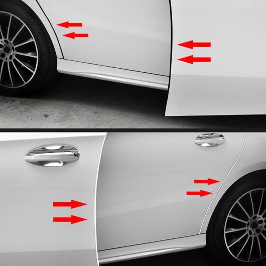AL メルセデスベンツ GLK クラス W177 W246 W205 W213 X204 ドア衝突防止トランク保護ゴム ステッカー 選べる4バリエーション Black Color 13M~Transparent 13M AL-DD-6874