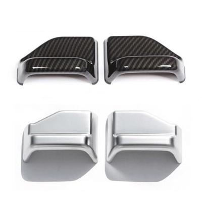AL 2個 メルセデスベンツ CLA GLA B クラス W117 C117 X156 W246 インテリア シートベルト カバー フレーム 選べる2バリエーション Carbon fiber·Silver AL-DD-7023
