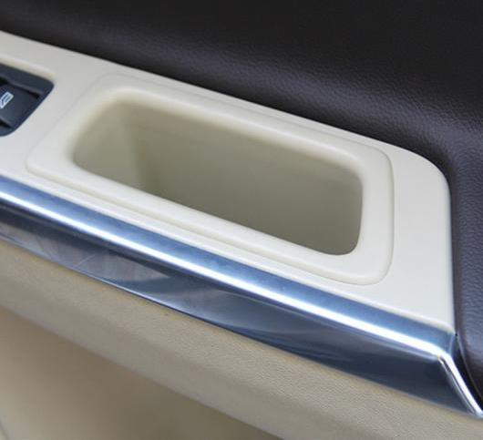 AL ドアハンドル収納ボックス 装飾 ボルボ S60 V60 オート インテリア 選べる2バリエーション Black 2pcs・Beige 2pcs AL-DD-7592