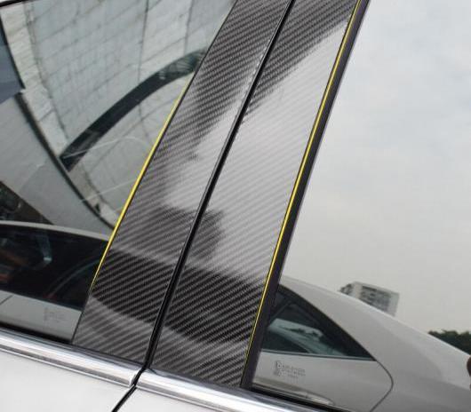 AL 車用外装パーツ 適用: メルセデスベンツ GLA GLC カーボンファイバー ウインドウ B C ピラー 装飾 列 モールディング カバー トリム ステッカー GLA 2013-2018 6個・GLC 2015-2018 6個 AL-DD-7609