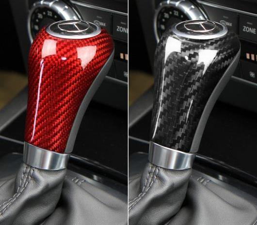 AL 車用外装パーツ リアル ギア シフト カバー ステッカー トリム 適用: メルセデスベンツ W204 W212 A G E Cクラス CLS ブラック カーボン・レッド カーボン AL-DD-7627