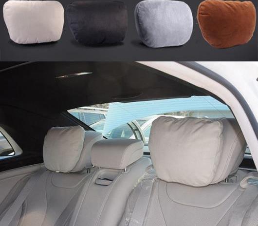 AL 車用内装パーツ マイバッハ デザイン Sクラス ヘッドレスト ネック サポート シート ピロー 適用: ベンツ W204 W203 W211 W210 W212 ブラック 2個~ベージュ 2個 AL-DD-7656