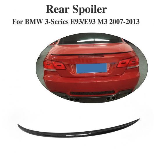 AL 車用外装パーツ カーボンファイバー リア トランク ブート リップ スポイラー ウイング 適用: BMW 3 シリーズ E93 E93 M3 コンバーチブル 2007-2013 AL-DD-7712