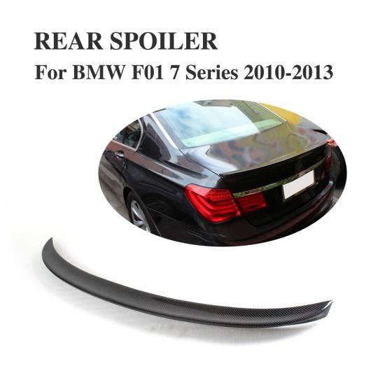 AL 車用外装パーツ カーボンファイバー リア ブート リップ スポイラー ウイング 適用: BMW 7 シリーズ F01 2010-2013 トランク トリム ステッカー カスタム スポイラー AL-DD-7715