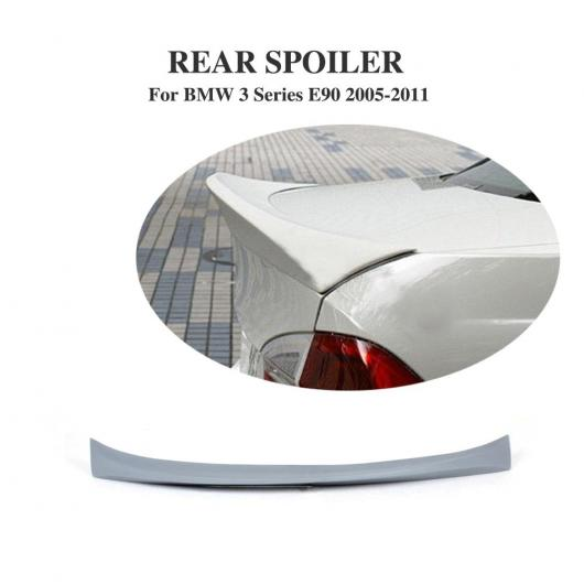 AL 車用外装パーツ リア トランク ブート リップ スポイラー ウイング 適用: BMW 3 シリーズ E90 328i セダン 2005-2011 未塗装 PU グレー プライマー AL-DD-7752