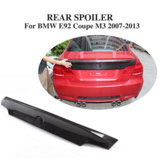 AL 車用外装パーツ カーボンファイバー リア トランク ブート リップ スポイラー ウイング 適用: BMW 3 シリーズ E92 クーペ M3 クーペ 2007-2013 AL-DD-7763