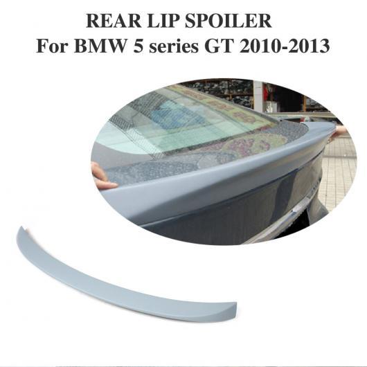 AL 車用外装パーツ リア トランク ブート リップ スポイラー ウイング ステッカー 適用: BMW 5 シリーズ GT 2010-2013 未塗装 PU プライマー グレー AL-DD-7769