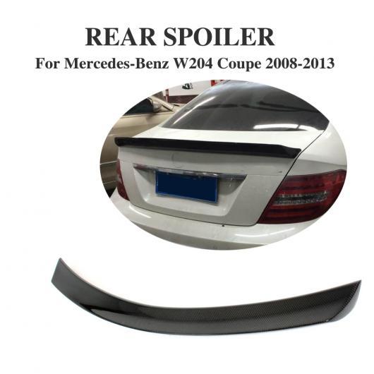AL 車用外装パーツ カーボンファイバー リア スポイラー トランク ブート リップ ウイング 適用: メルセデスベンツ Cクラス W204 C180 C200 C250 C300 C63 AMG クーペ 2008-2013 AL-DD-7804