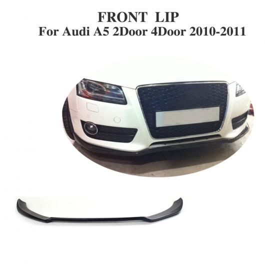 AL 車用外装パーツ フロント リップ スポイラー 適用: アウディ A5 2ドア 4ドア 除く-Sライン バンパー 2010-2011 FRP 未塗装 ブラック AL-DD-7808