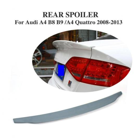 AL 車用外装パーツ リア トランク ブート ウイング スポイラー リップ 適用: アウディ A4 B8 B9 除く-Sライン 2008-2013 PU 未塗装 グレー AL-DD-7811