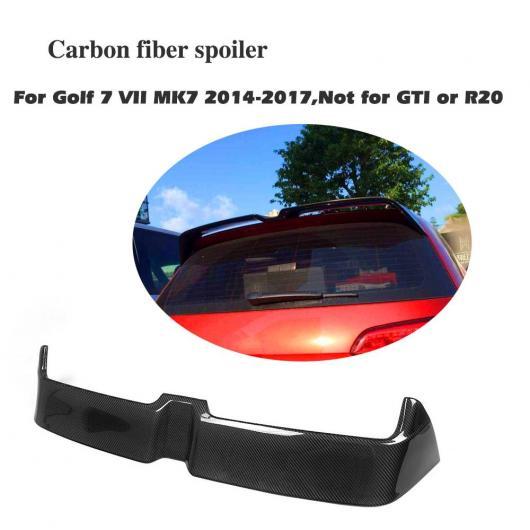 AL 車用外装パーツ カーボンファイバー リア ルーフ スポイラー ウイング リップ 適用: フォルクスワーゲン VW ゴルフ 7 VII MK7 スタンダード ハッチバック 2014-17 AL-DD-7860